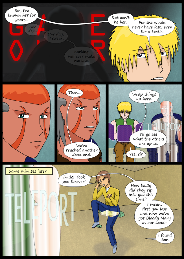 'Not A Villain' Webcomic - Dr Grace admits defeat. Bandit sees his friend Brandon