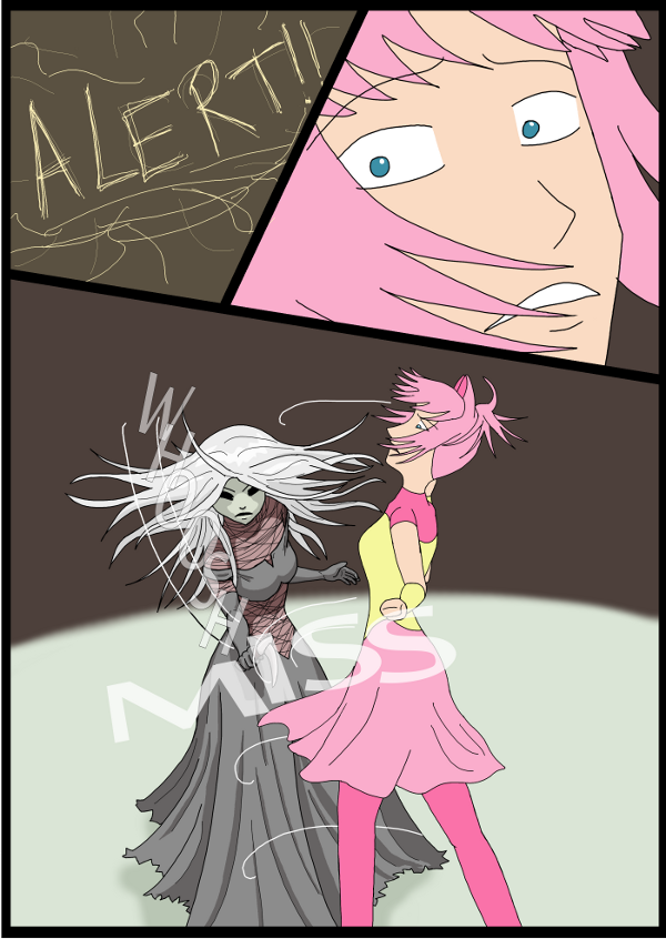 'Not A Villain' Webcomic - Kleya barely dodges Jane.