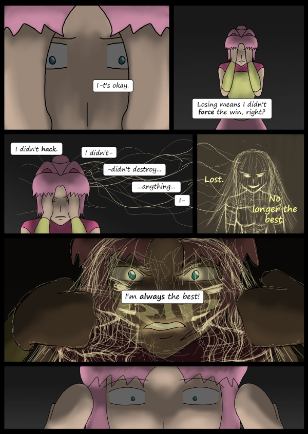 'Not A Villain' Webcomic - Kleya slightly freaks out about losing.